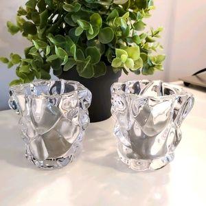 PartyLite glass votive holders with 2 voti…